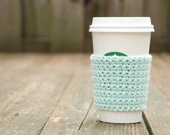 Teacher Gift - Crochet Coffee Cup Sleeve - Staff Appreciation - To Go Cup Sleeve - Reusable Coffee Sleeve - Eco Friendly - Coffee Cup Sleeve
