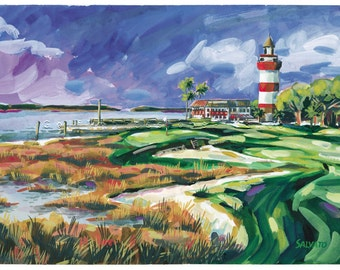 fila shoes harbour town lighthouse paintings acrylic