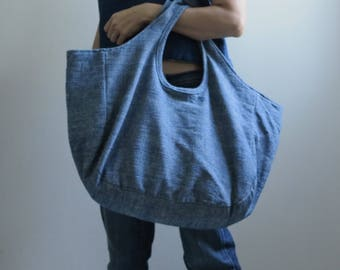 Indigo Tote Bag Si-mhok /indigo dyed bag / Toronto