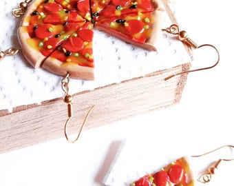 Pizza by the slice earrings