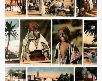 Vintage des Arts Photomécaniques (CAP) Postcards From Algeria ~ Lot of 10