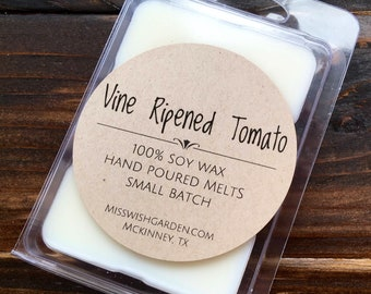 Wax Melts, Vine Ripened Tomato Soy Wax Melts, Hand poured soy wax melts, tomato scented wax melts, gift, birthday, handmade, wax tarts
