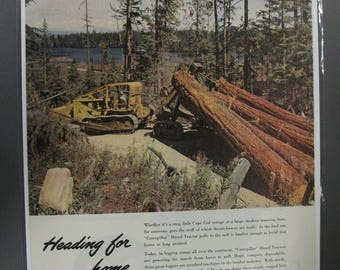 Heavy    #110   Caterpillar       Magazine Ad  May 1948