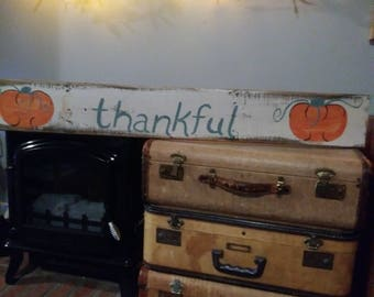 Thankful Barn Wood Sign