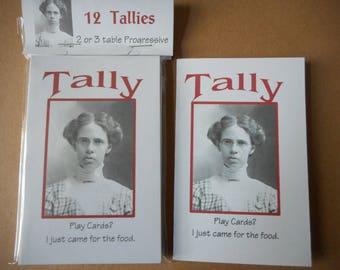 Tallies Bridge Euchre 12 talllies for 2 or 3 table