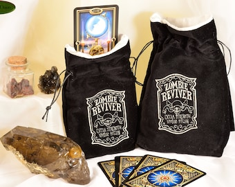 Zombie Reviver - All Natural Cotton Velvet and Silk Tarot, Oracle, or Crystal bag