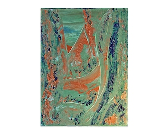 Passage,  Original Modern Art Textured Abstract Painting by Lisa Strassheim - Turquoise - Gold - Blue