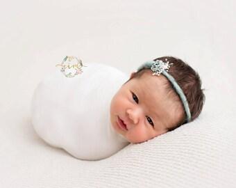 Newborn Headband, Tieback headband, Newborn photo prop, Baby photo prop, Newborn halo, Baby headband, baby photo prop