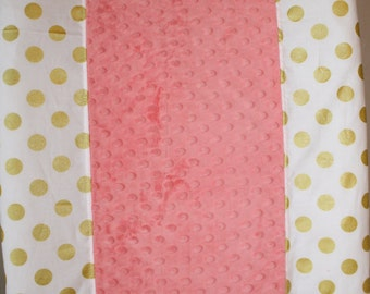 Deluxe Glitz Dot or Chevron and Minky Contour Changing Pad Cover