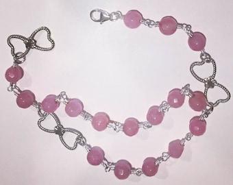Natural Rose Jade Bracelet
