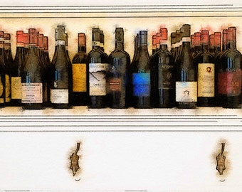 A Collection of Vino: A Photo Watercolor Art Print