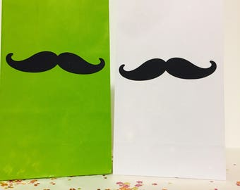 Mustache theme loot bags, Mustache party favors, Mustache party bags, Mustache treat bags, Birthday, Themed Birthday, For Him,
