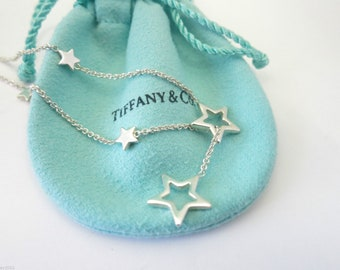 RETIRED, LIKE NEW!!  Stunning Tiffany & Co. Sterling Silver Star Lariat Necklace