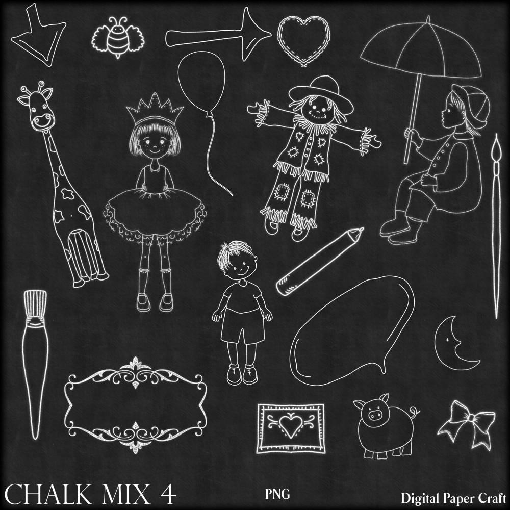 Chalk art mix 4 chalk art chalkboard clipart clipart children this is a digital file jeuxipadfo Image collections