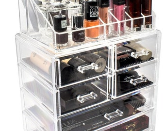 Acrylic Makeup Organizer   Makeup Storage, Makeup Vanity, Makeup Case,  Bathroom Storage Box