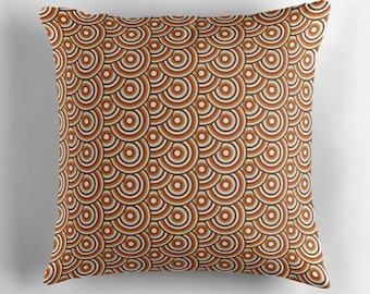 Brown cushion, Retro throw pillow, Mid century modern cushion, Brown living room, 60s decor, Retro pillow, brown pillow, 70s home decor