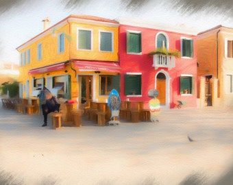 Burano, Venice, Italy, Colorful Buildings, Charm and Character of Burano, Textured Photography