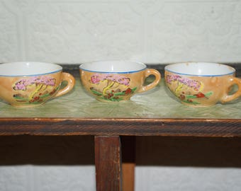 Vintage Child's Tea Set Lusterware doll house tea cups