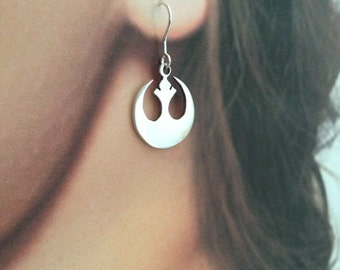 Rebel Alliance Sterling Silver earrings, Star Wars, Handmade