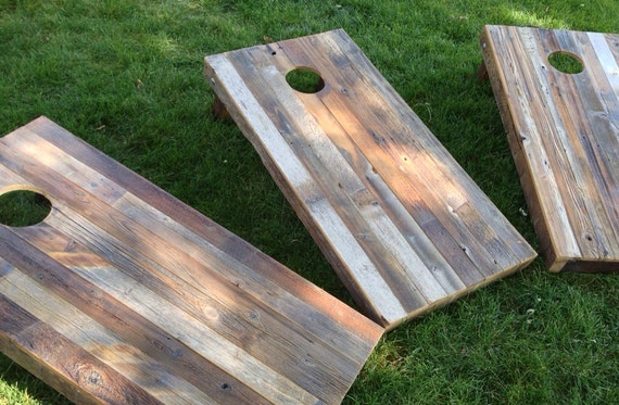 Wooden Corn Hole Game Cornhole Game by ColoradoJoes Reclaimed Repurposed Wood 23