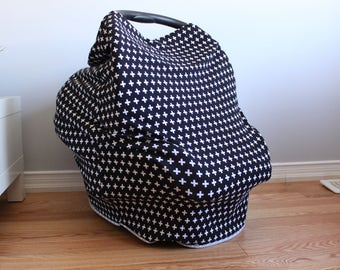 Stretchy Car Seat Cover/ Nursing Cover Blanket