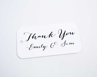 Thank You Tag - Wedding Favor Tags - Custom Thank You Tags - Party Favor Tags - Bridal Shower Tags - Product Thank You Tags