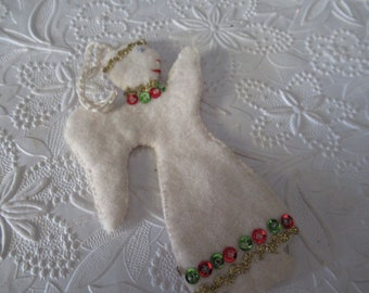angel christmas angel angel ornament handmade ornament handmade angel felt angel - Handmade Angels Christmas Decorations