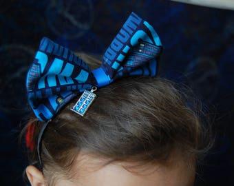 Police box headband bow