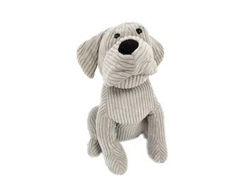 Grey Dog Door Stopper/ Puppy Door Stop/ Animal Theme Nursery Decor/ Gray Door Stop/ Stuffed Doggy Doorstop/ Animal Lover Gift