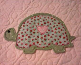 NEW - Turtle Mug Rug -  Coaster - Mug Rug - Coasters - Mug Rugs