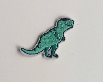 Green Dinosaur Iron on patch