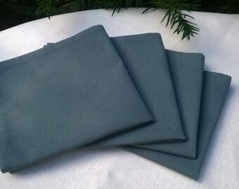 4 100% cotton gray 30x30cm NAPKINS