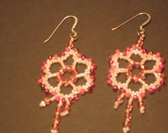 Beadwoven Chandelier Earrings
