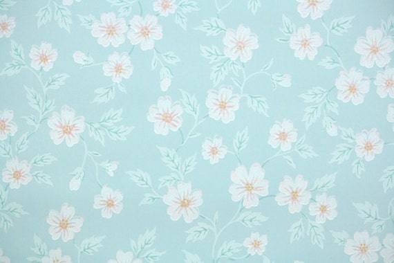 1930s Vintage Wallpaper By The Yard Floral With