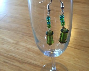 Fun and Festive Green Earrings