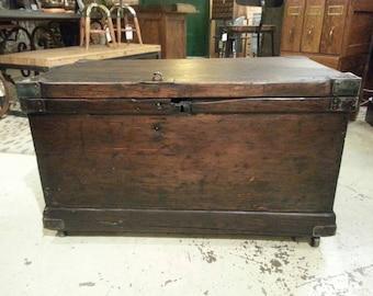 Vintage industrial tool trunk