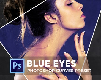 Photoshop Curves Preset BLUE EYES | Use as PS Resource, Color Pop for Photo Editing & More