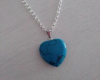 Natural Gem heart necklace. Fine choker. Pendant heart. Gemstone