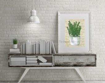 Thyme Herb Garden art print. Thyme herbs poster. Garden Herb Thyme home decor. Thyme Garden art.  Thyme Herb home decor. Shanni Welsh