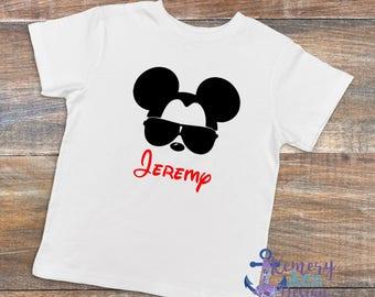 Personalized Disney Family Vacation, Mickey Aviator Shirt, Family Vacation Name Shirt, Personalized Mickey Shirt, Disney Family Shirt