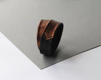 Genuine leather bracelet, Bronze black bracelet, Double wrap bracelet, Gift for Her, Womens Bracelet, Leather cuff Christmas Present / Gift