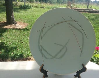 Russell Wright Grass Pattern Dinner Plate,Excellent Condition