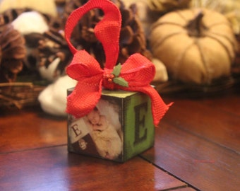 Christmas Photo Ornament personalized and custom