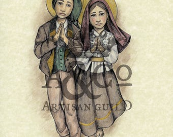 Saints Francisco and Jacinta Marto Art Print
