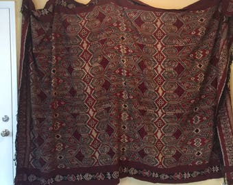 Vintage Indonesian Blanket/Coverlet/Wall Display