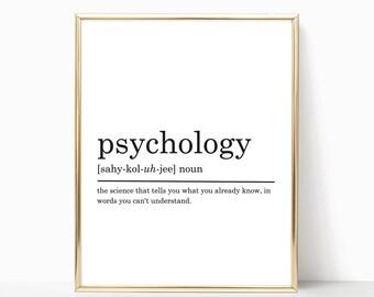 Psychology Definition Print, Psychologist gift, Funny Definition Print, Gift for Psychologist, Office decor, DIGITAL DOWNLOAD