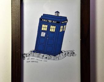 Doctor Who: Tardis/ Dr. Who print