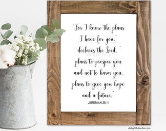 For I Know the Plans I Have For You, Printable Graduation Sign, Grad Sign, Party Decor, Graduation Party Printable (1) JPEG File, You Print