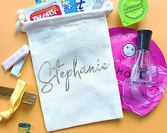 Personalized Bridesmaid gift bag- Bridesmaid name gifts- Bachelorette party favors- Wedding favor- tote bag- Thank you gift- bridal party