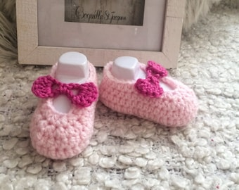 Hand made baby girl Mary Jane shoes
